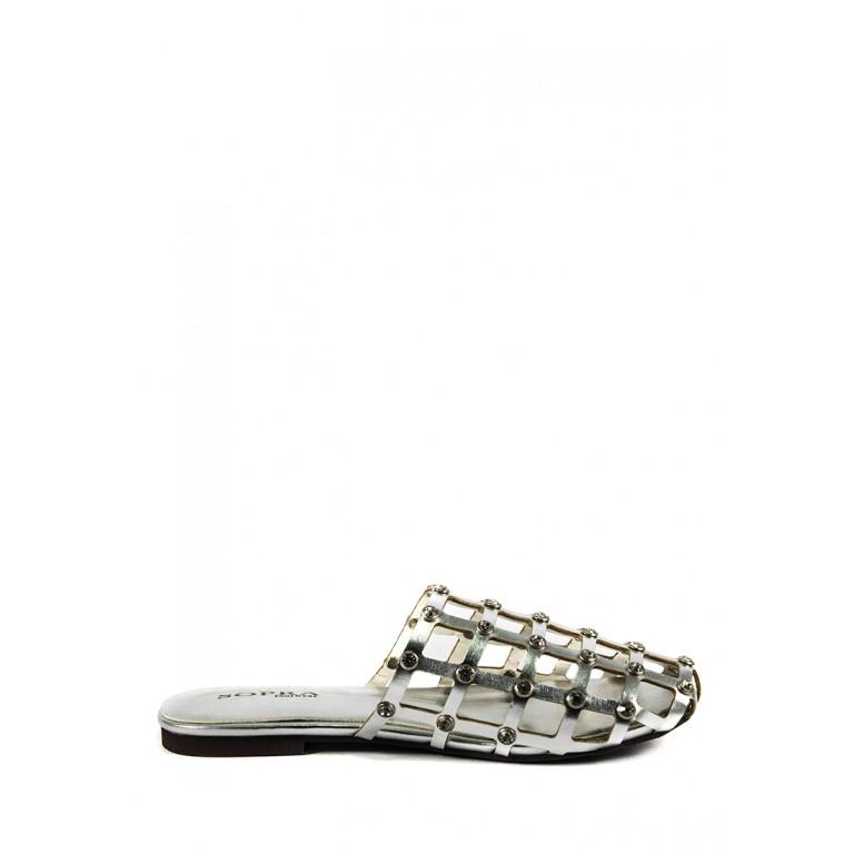 Шлепанцы женские Sopra СФ YY-2 серебрянные