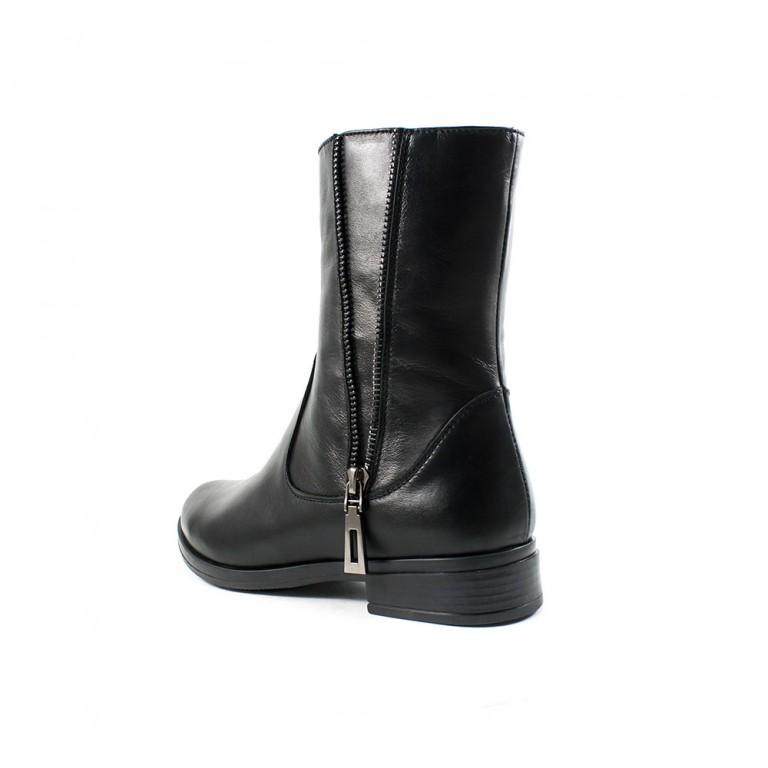 Ботинки зимние женские ZARUI ZAR1040 черная кожа