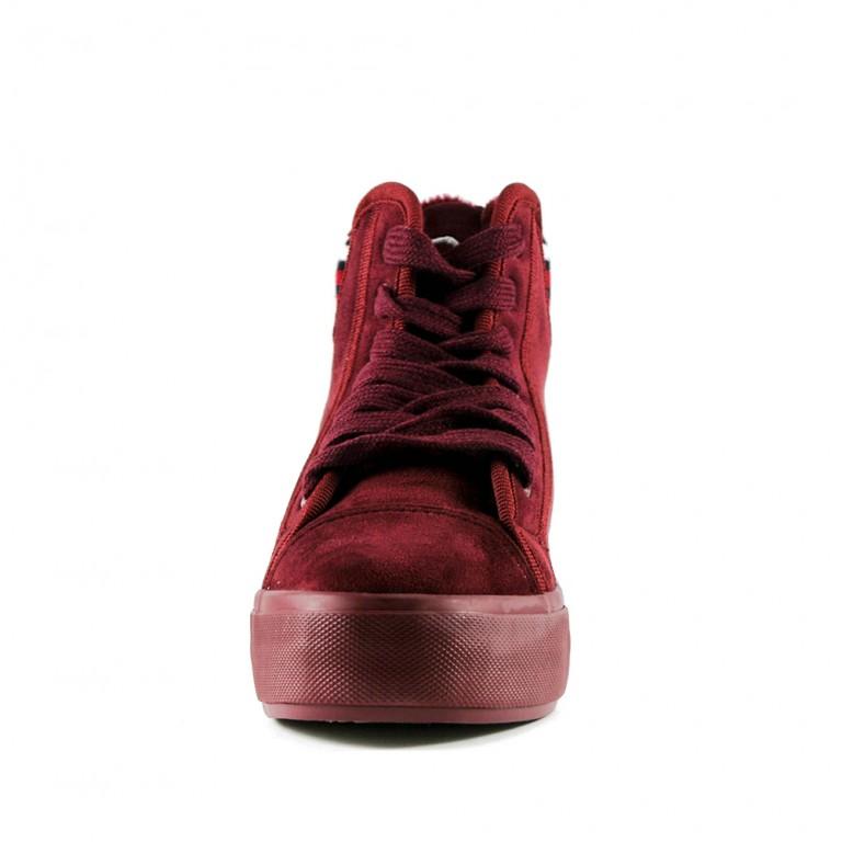 Ботинки зимние женские Prima D'arte YD006 красный