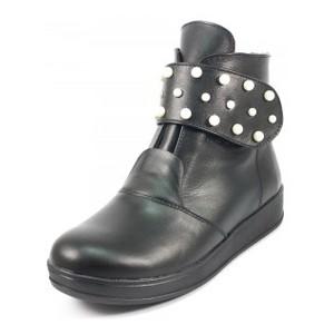 Ботинки демисез женск Julaneli Б-805 черная кожа
