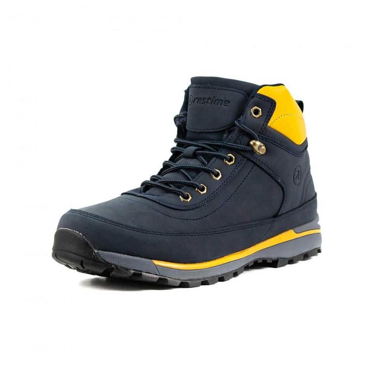Ботинки зимние мужские Restime KMZ18620 темно-синие