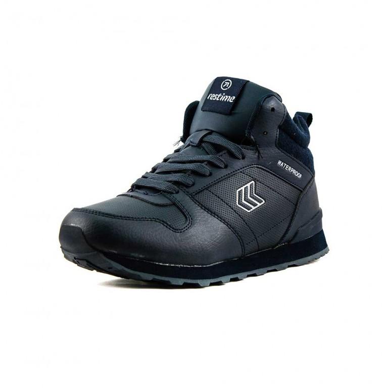 Ботинки зимние мужские Restime PMZ18787 синий