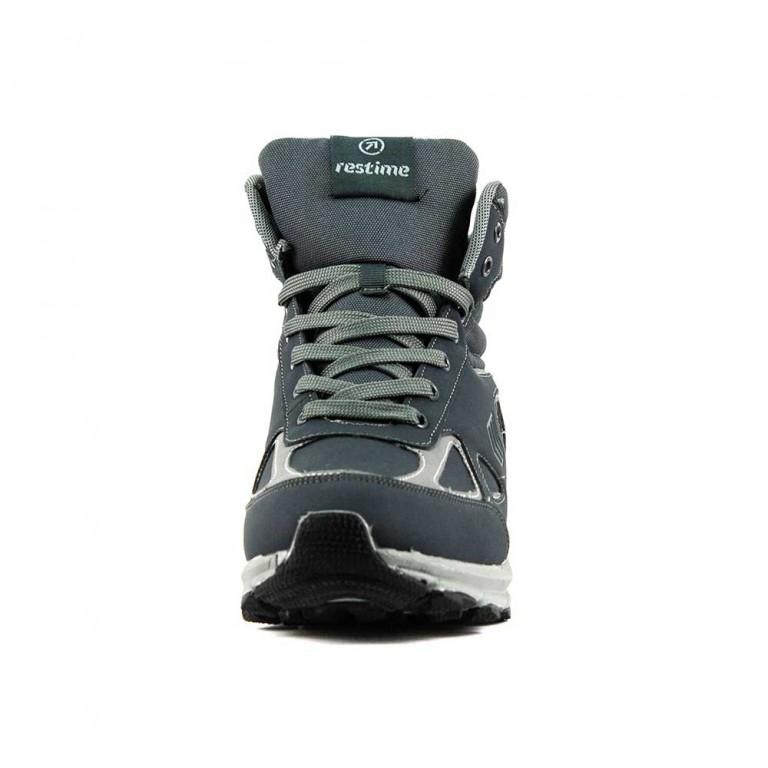 Ботинки зимние мужские Restime PMZ18248 серые