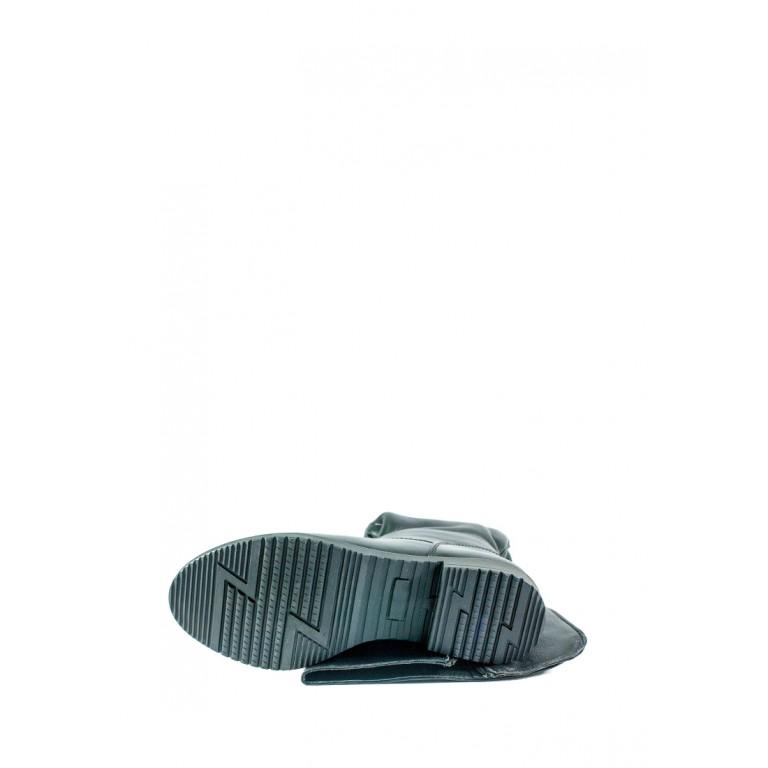 Сапоги зимние женские SND SDAZ 1032 черная кожа