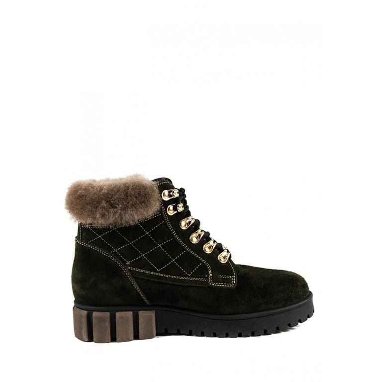 Ботинки зимние женские MIDA 24787-240Ш хаки