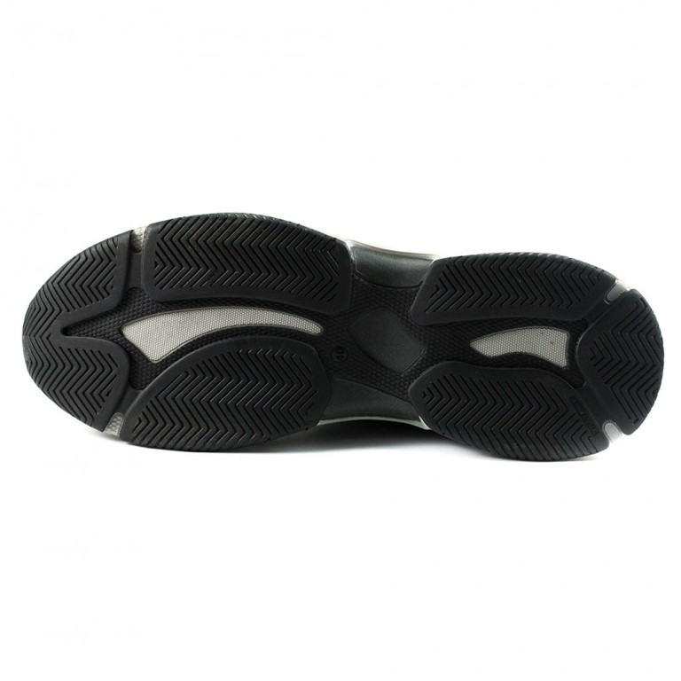 Кроссовки мужские Nivas NivА10 черная замша-текстиль