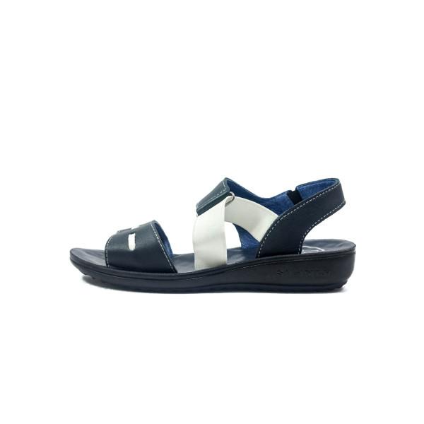 Сандалии женские TiBet 493-02-03 сине-белые