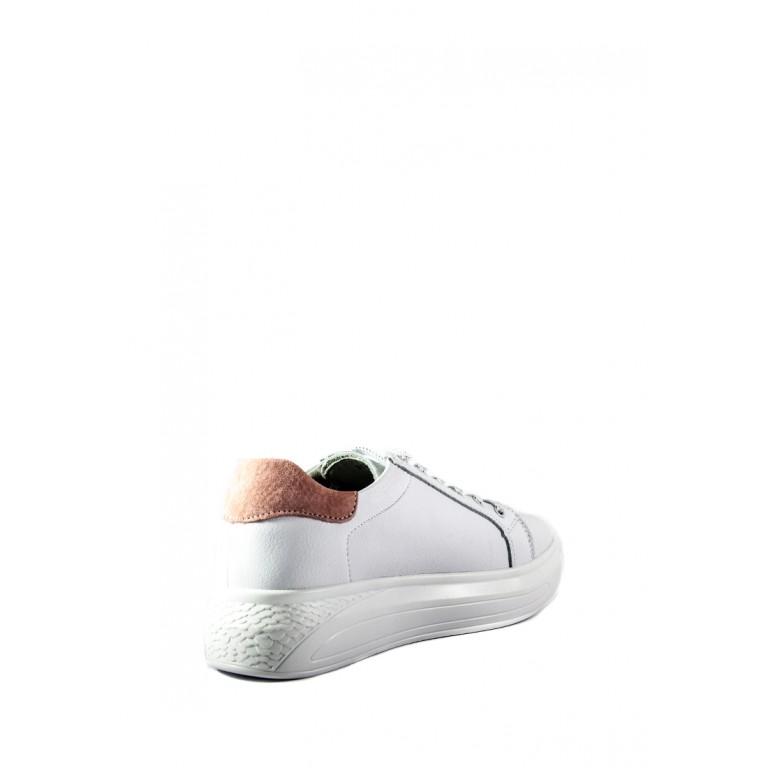 Кеды женские Allshoes 212-19119 бело-розовые