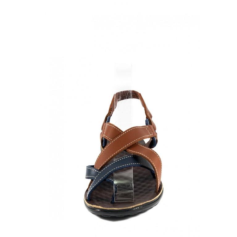 Сандалии женские TiBet 275-03-04-03 коричнево-синие