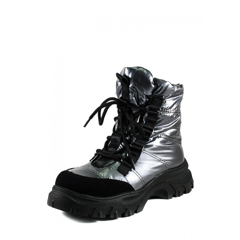 Ботинки зимние женские Prima D'arte 1616-F801-2 серые
