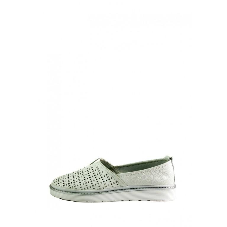 Мокасины женские Allshoes Y17505-3K-1 белые