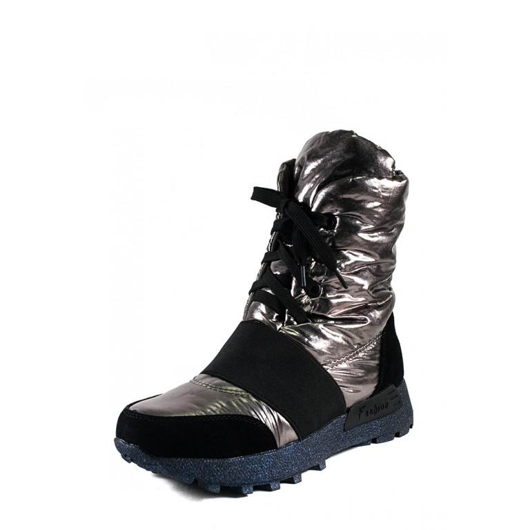 Ботинки зимние женские Lonza 91181-Z545 металлик