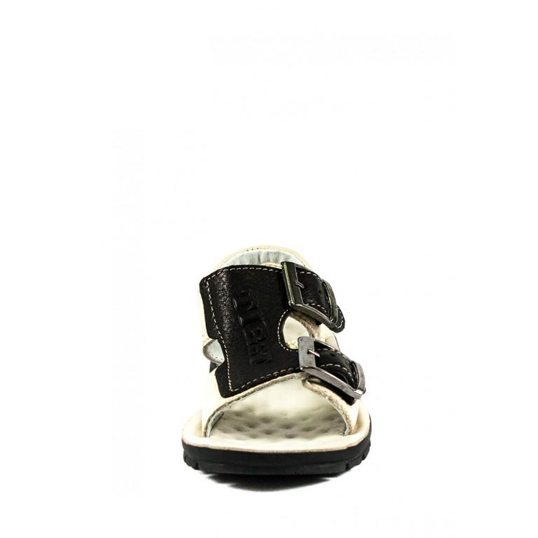 Сандали подростковые TiBet 009-02-09 черно-бежевые