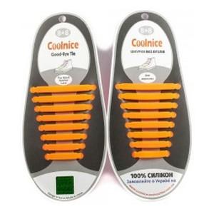 Аксессуары для обуви Coolnice Силиконовые шнурки 8х8 оранжевые
