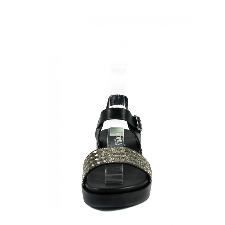 Босоножки женские Sopra СФ JK18128-1 черные