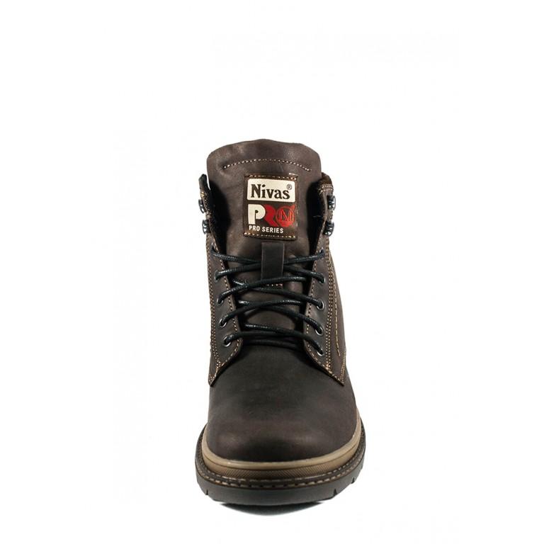 Ботинки зимние мужские Nivas СФ Niv N3 К коричневые