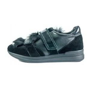 Туфли женские MIDA 210046-249 черная замша-кожа