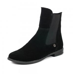 Ботинки демисез женск AmeLi AL124 черная замша