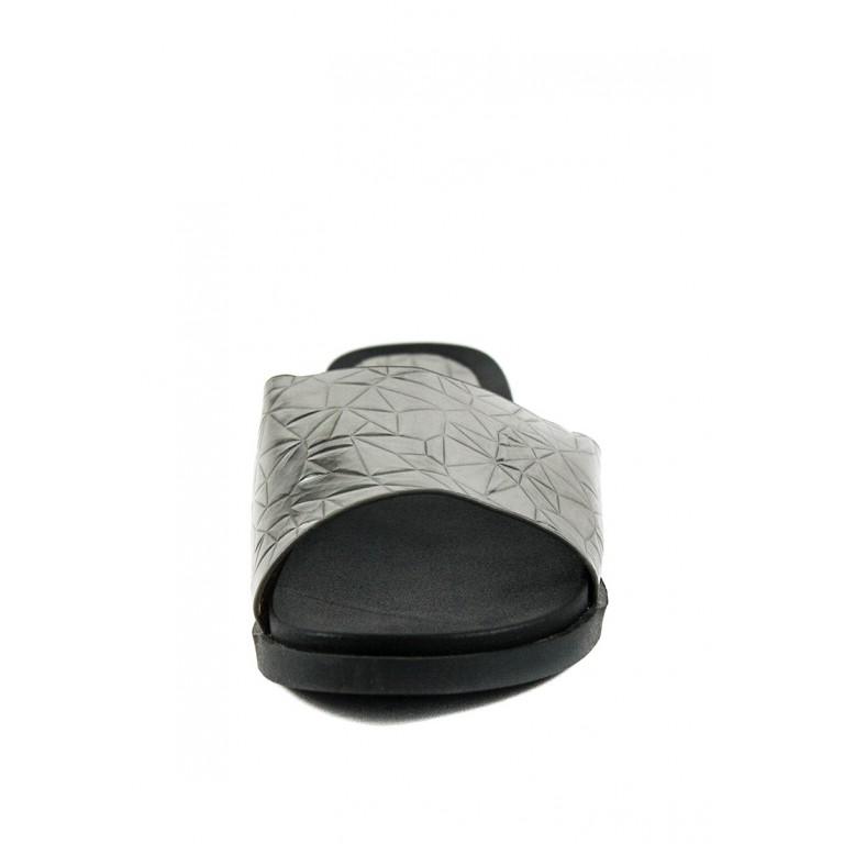 Шлепанцы женские Prima D'arte СФ HR3T88-15 серебряные
