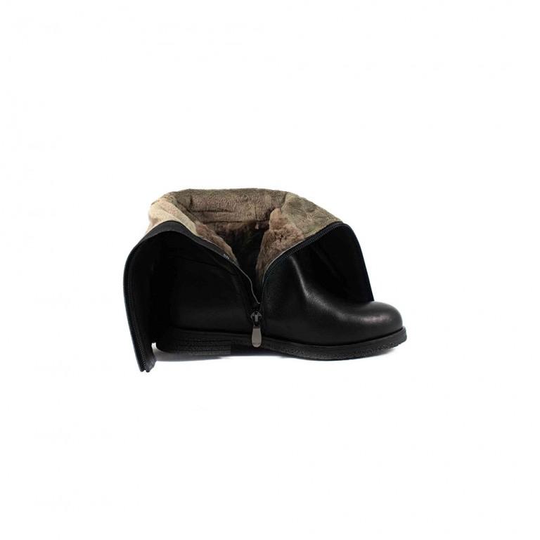 Сапоги зимние женские Fabio Monelli BY158-02-R647 черная кожа
