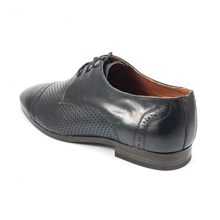 Туфли мужские MIDA 13387-29 синяя кожа