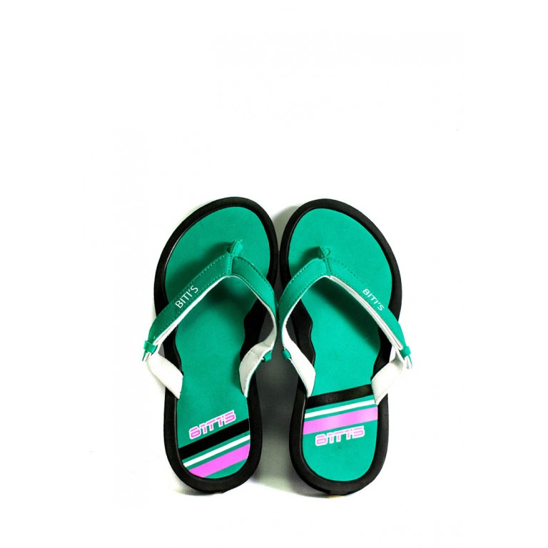 Вьетнамки подростковые Bitis BWI-14920 черно-зеленые