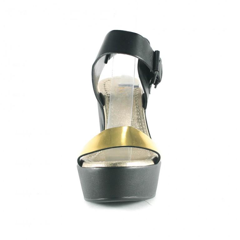Босоножки женские Rovigo-Rifellini R866-Y-361 черно-золотые