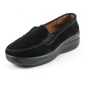 Мокасины женские Zoja's shoes 75211 черная замша