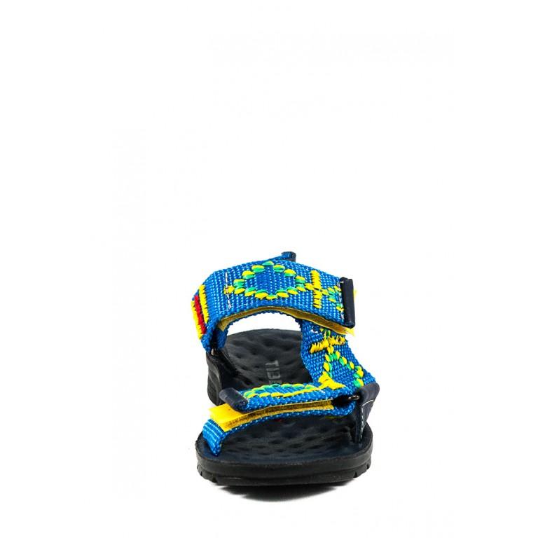 Сандали подростковые TiBet 7 желто-голубые