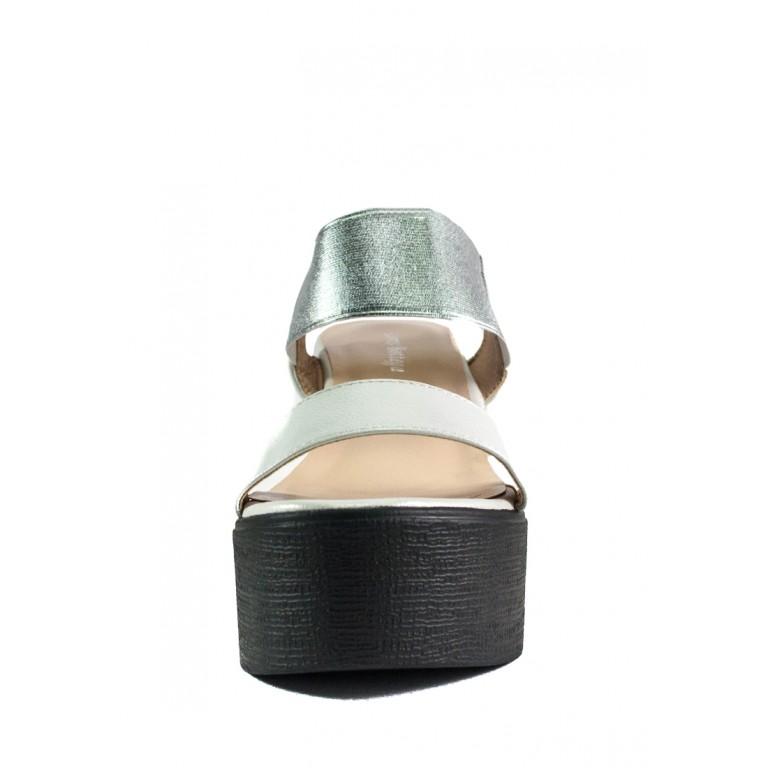 Босоножки женские LorisBottega СФ L-1466 черно-серебрянные