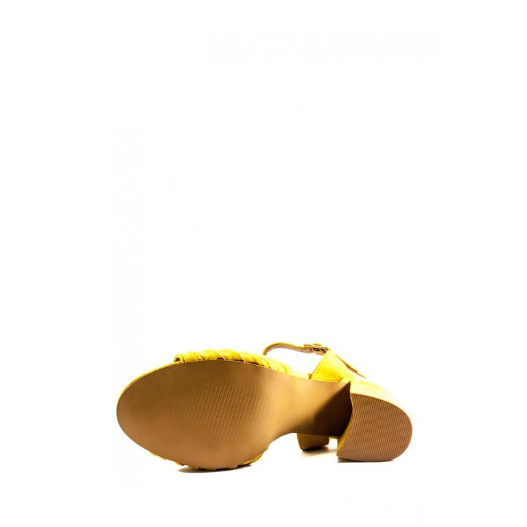 Босоножки женские летние Sopra СФ 1247-A7 желтые