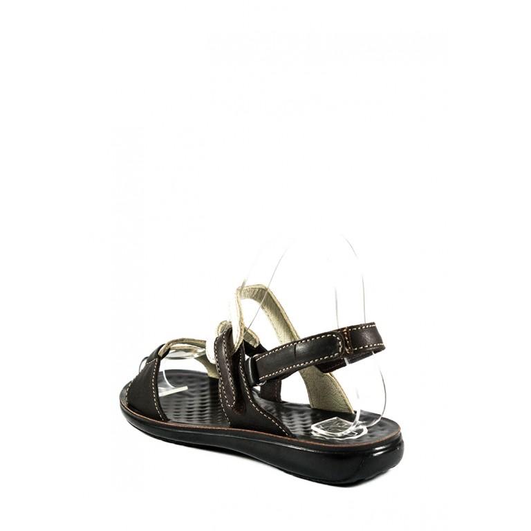Босоножки женские TiBet 239-02-09 коричнево-кремовые
