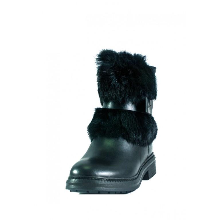 Ботинки зимние женские Allshoes СФ CHJ-K9511-A563-1 ЧК черные