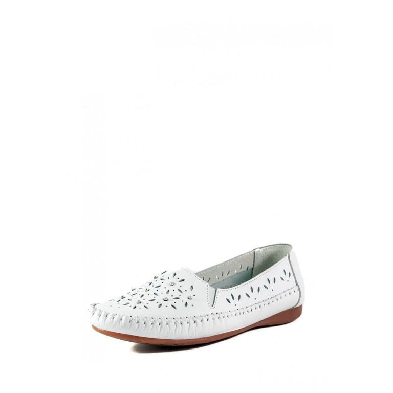 Мокасины женские Allshoes 63027 белые
