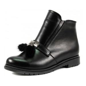 Ботинки демисезон женские SND SDAZ-9 черная кожа