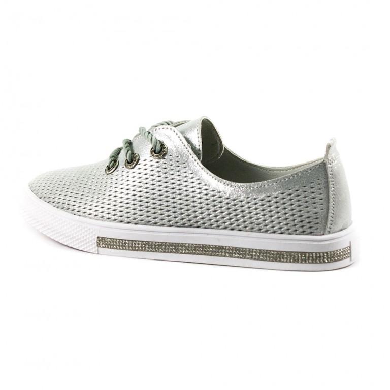 Слипоны женские Allshoes 206-03XM-3 светло-серые