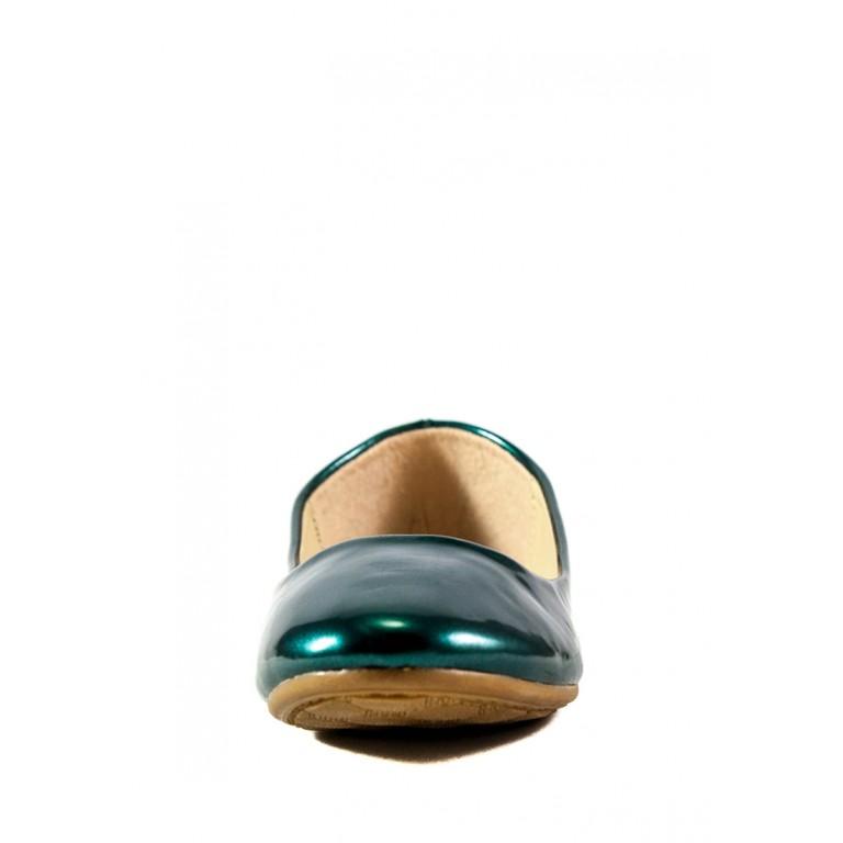 Балетки женские Sopra CG888-2Q зеленый лак
