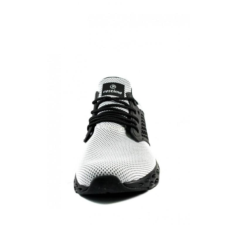 Кроссовки летние мужские Restime PML20208 серо-черные
