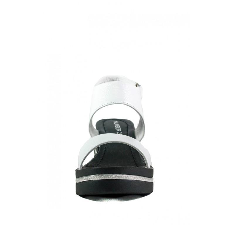 Босоножки женские Number 22 СФ L-89064-2463-1 KM черно-белые