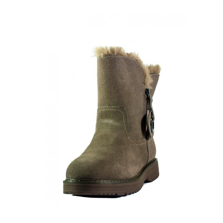 Ботинки зимние женские Allshoes СФ 103-2827-2-1 темно-бежевые