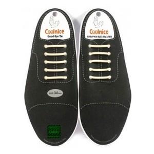 Аксессуары для обуви Coolnice Шнурки силиконовые (классика 30) бежевые