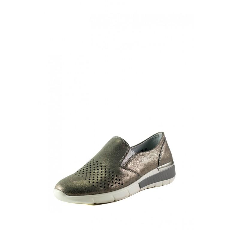 Мокасины женские Allshoes 206-11XM-06-1 темно-серые