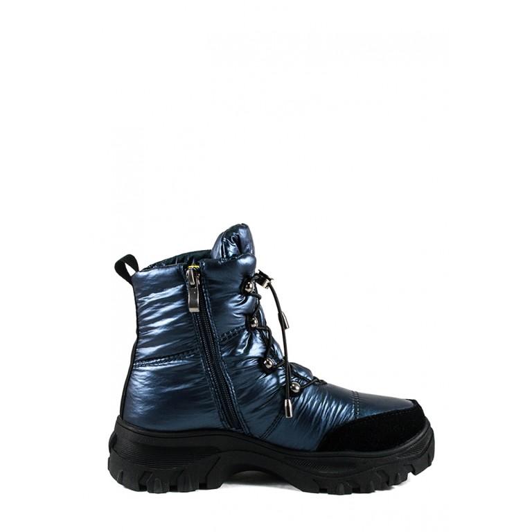 Ботинки зимние женские Lonza 3951-N581 голубые