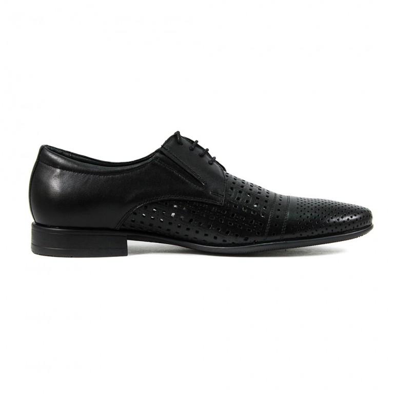 Туфли мужские MIDA 13275-1 черная кожа