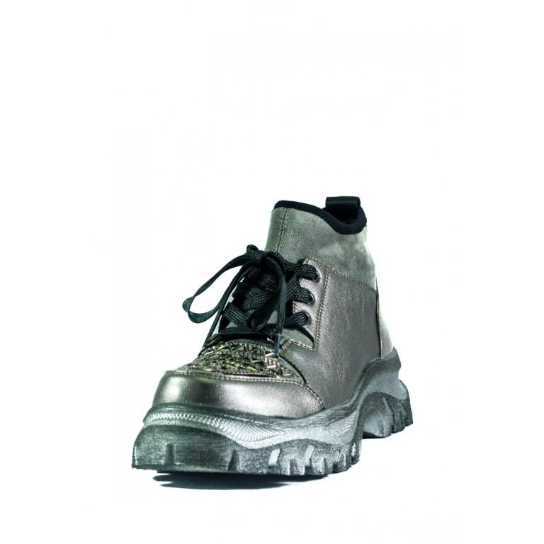 Ботинки демисезон женские Allshoes СФ CHJ-K166-B530-5 серебряные