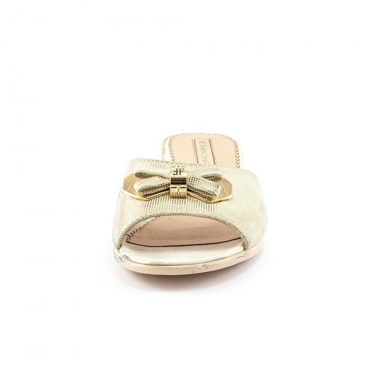 Шлепанцы женские Foletti FL225 золотые