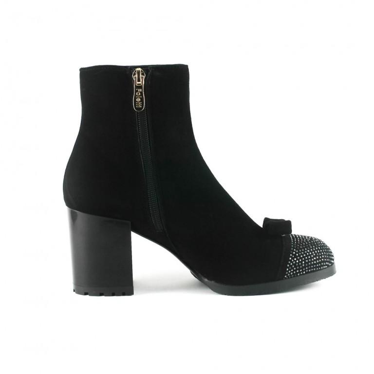 Ботинки демисезон женские Foletti FL805 чзш черная замша