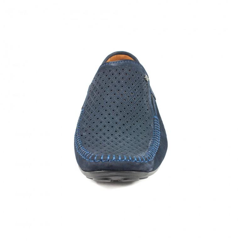 Мокасины мужские Alexandro AO18544 синий нубук