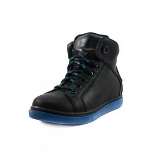 Ботинки зимние детские MIDA 44035-3Ш черная кожа
