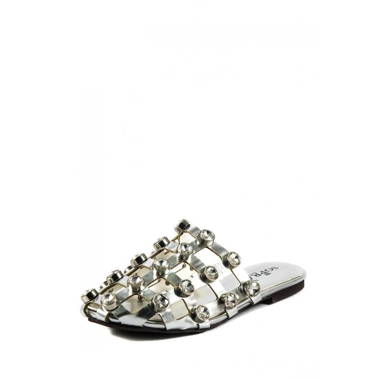 Шлепанцы женские Sopra СФ A8-138 серебрянные